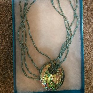 Jewelry - Abalone Shell Turquoise Bead Necklace